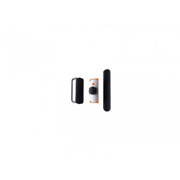 AppleKing náhradní postranní tlačítka pro Apple iPad 4 (Hlasitost + Zapnutí / vypnutí + Ztlumení) - černá - možnost vrátit zboží ZDARMA do 30ti dní