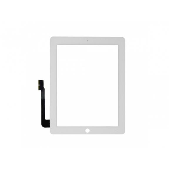 AppleKing přední dotykové sklo (touch screen) pro Apple iPad 4 s tlačítkem Home Button a lepidlem - TOP kvalita - bílé - možnost vrátit zboží ZDARMA do 30ti dní