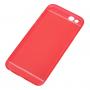 Tenký plastový kryt pro iPhone 6 Plus / 6S Plus s ochranou čočky - červený