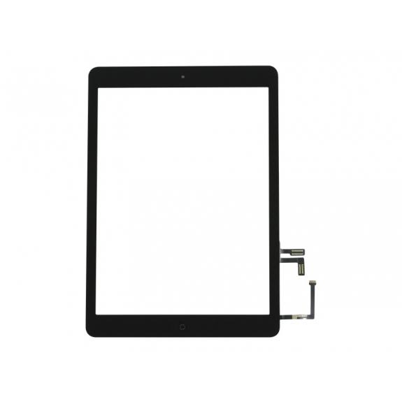 AppleKing přední dotykové sklo (touch screen) pro Apple iPad Air s tlačítkem Home Button a lepidlem - černé - možnost vrátit zboží ZDARMA do 30ti dní