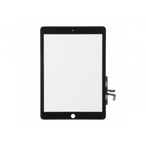 AppleKing přední dotykové sklo (touch screen) pro Apple iPad Air s tlačítkem Home Button a lepidlem - TOP kvalita - černé - možnost vrátit zboží ZDARMA do 30ti dní