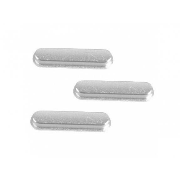 AppleKing náhradní postranní tlačítka pro Apple iPad Air 2 (Hlasitost + Zapnutí / vypnutí + Ztlumení) - stříbrná - možnost vrátit zboží ZDARMA do 30ti dní