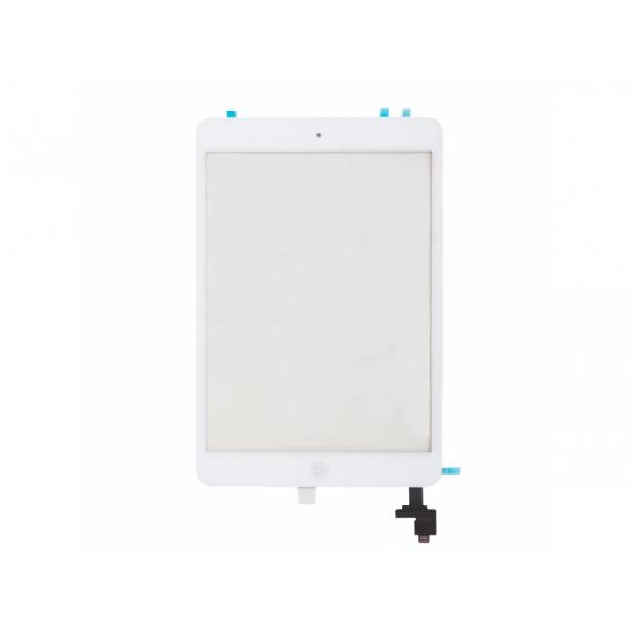 AppleKing přední dotykové sklo (touch screen) pro Apple iPad mini s tlačítkem Home Button a lepidlem - TOP kvalita - bílé - možnost vrátit zboží ZDARMA do 30ti dní