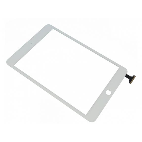 AppleKing přední dotykové sklo (touch screen) pro Apple iPad mini s tlačítkem Home Button a lepidlem - bílé - možnost vrátit zboží ZDARMA do 30ti dní