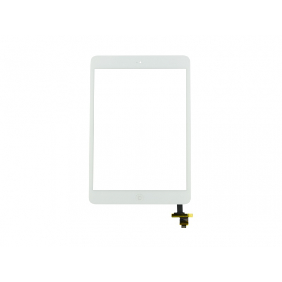AppleKing přední dotykové sklo (touch screen) pro Apple iPad mini 2 s tlačítkem Home Button a lepidlem - TOP kvalita - bílé - možnost vrátit zboží ZDARMA do 30ti dní