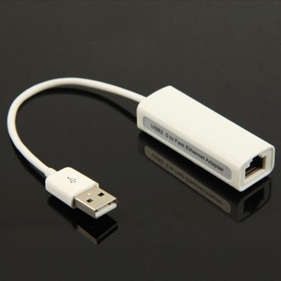 AppleKing vysokorychlostí ethernet USB adaptér - 10/100Mbps, RJ45, USB 2.0 - možnost vrátit zboží ZDARMA do 30ti dní