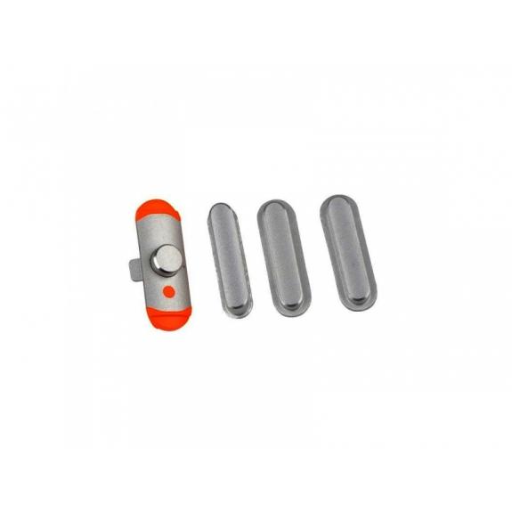 AppleKing náhradní postranní tlačítka pro Apple iPad Mini 2 (Hlasitost + Zapnutí / vypnutí + Ztlumení) - vesmírně šedá (Space Gray) - možnost vrátit zboží ZDARMA do 30ti dní