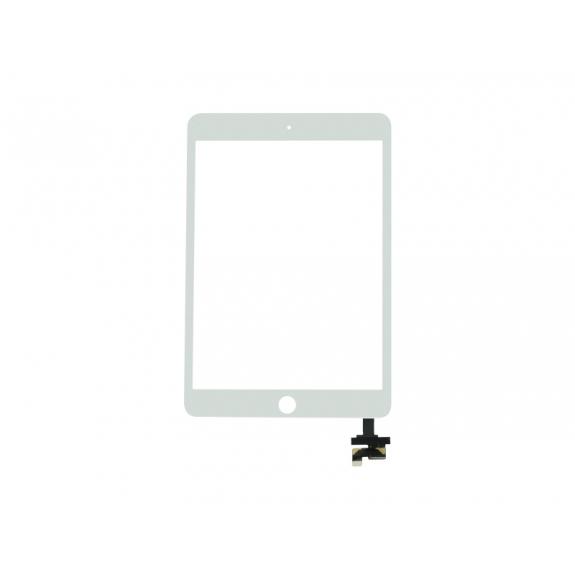 AppleKing přední dotykové sklo (touch screen) pro Apple iPad mini 3 s tlačítkem Home Button a lepidlem - bílé - možnost vrátit zboží ZDARMA do 30ti dní