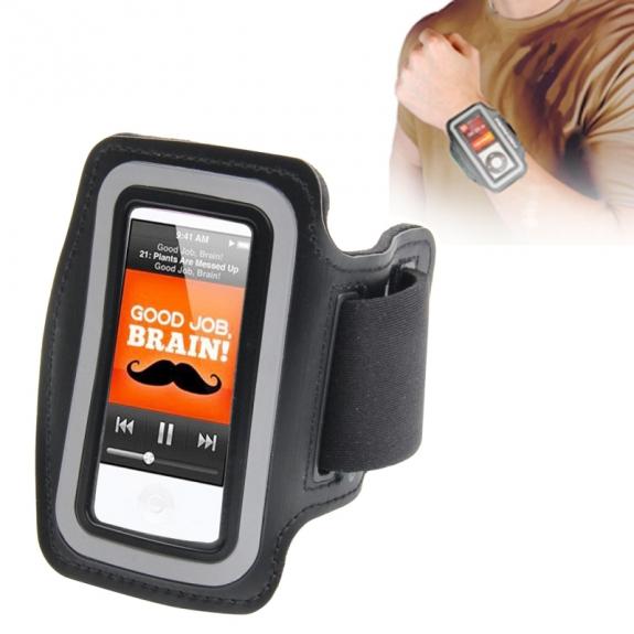 AppleKing sportovní pouzdro s reflexním pruhem pro iPod nano 7.gen. - černé - možnost vrátit zboží ZDARMA do 30ti dní