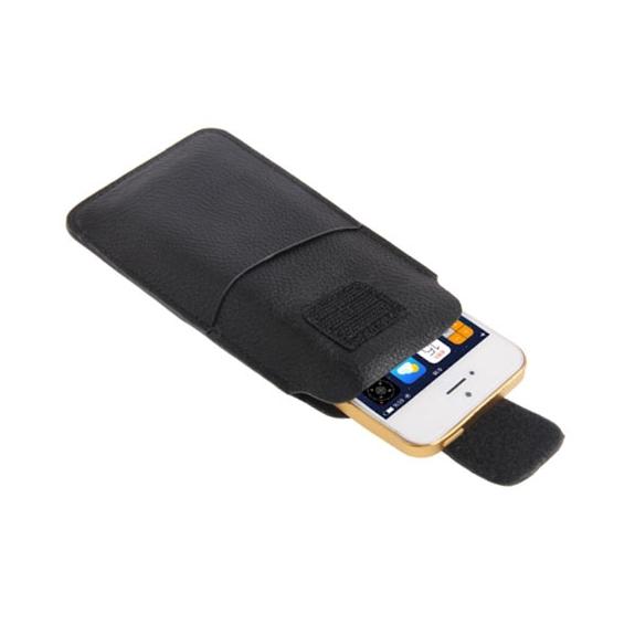 AppleKing pouzdro s texturou a poutkem pro Apple iPhone 5 / 5C / 5S / SE – černé - možnost vrátit zboží ZDARMA do 30ti dní