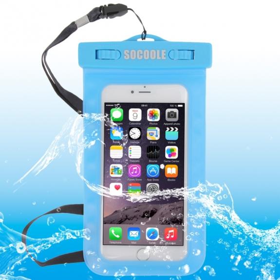 AppleKing vodotěsné IPX8 pouzdro pro Apple iPhone 6 / 6S – modré - možnost vrátit zboží ZDARMA do 30ti dní