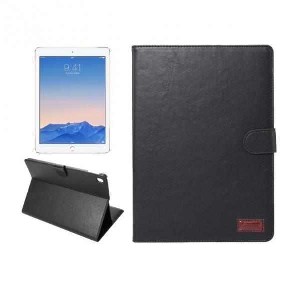"""AppleKing luxusní pouzdro s funkcí uspání a prostorem na doklady pro iPad Pro 9.7"""" / iPad Air 2 - černé - možnost vrátit zboží ZDARMA do 30ti dní"""