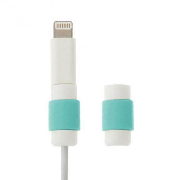 Plastová ochrana / rozlišovač nabíjecích kabelů - bílo-modrá