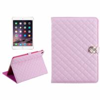 Pouzdro / kryt s integrovaným stojánkem pro iPad Air 2 - vzor kosočtverce – světle růžové