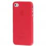 Ultra tenký (0.3mm) poloprůhledný matný kryt pro iPhone 4 / 4S - červený