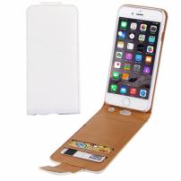 Otevírací elegantní flipové pouzdro pro Apple iPhone 6S Plus / 6 Plus – bílo hnědé