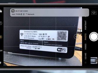iOS 11 QR kód