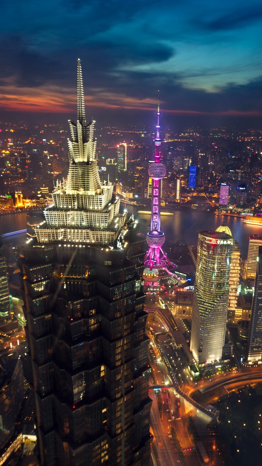 iPhone - tapeta - Šanghaj