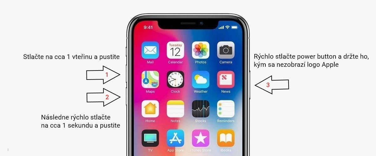 Ako reštartovať iPhone X