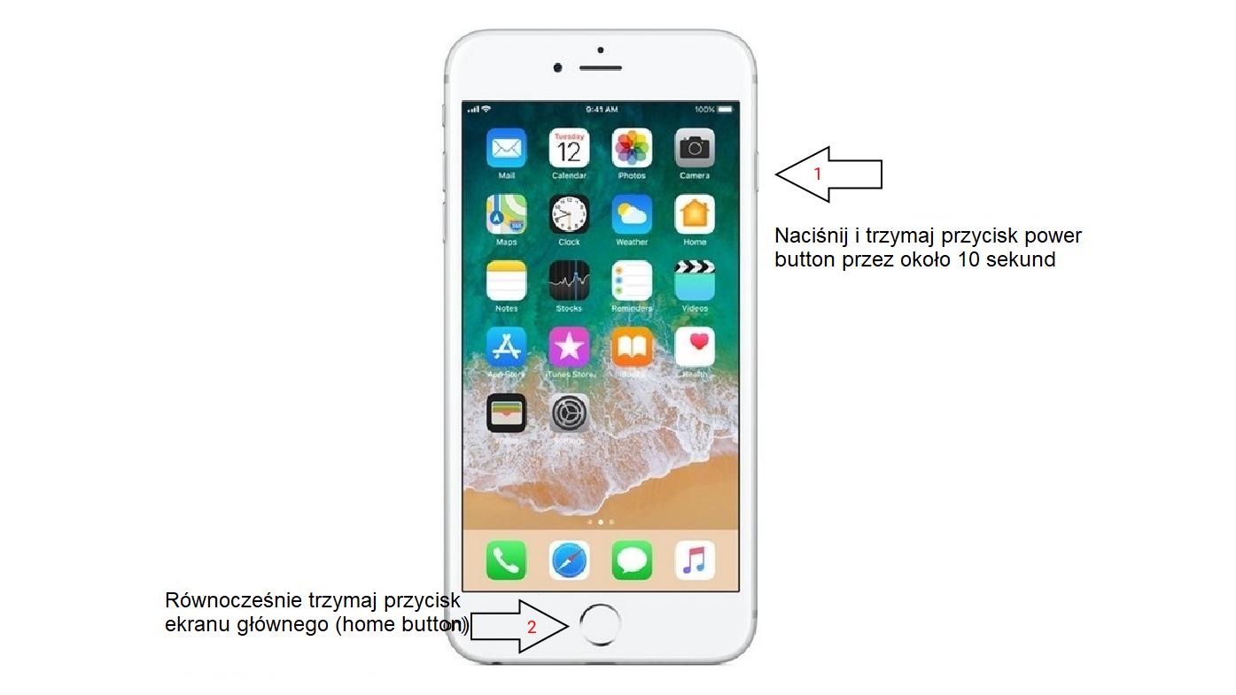 "Jak zresetować iPhone'a 6/6S ""twardy reset"""