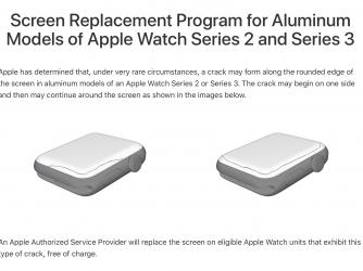 Prasklý displej naApple Watch 2 a3 Apple opraví bezplatně.