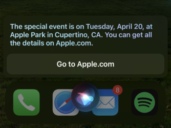 Na jednoduchý dotaz dostanete odpověď, kterým Siri prozradila datum letošního Apple Eventu