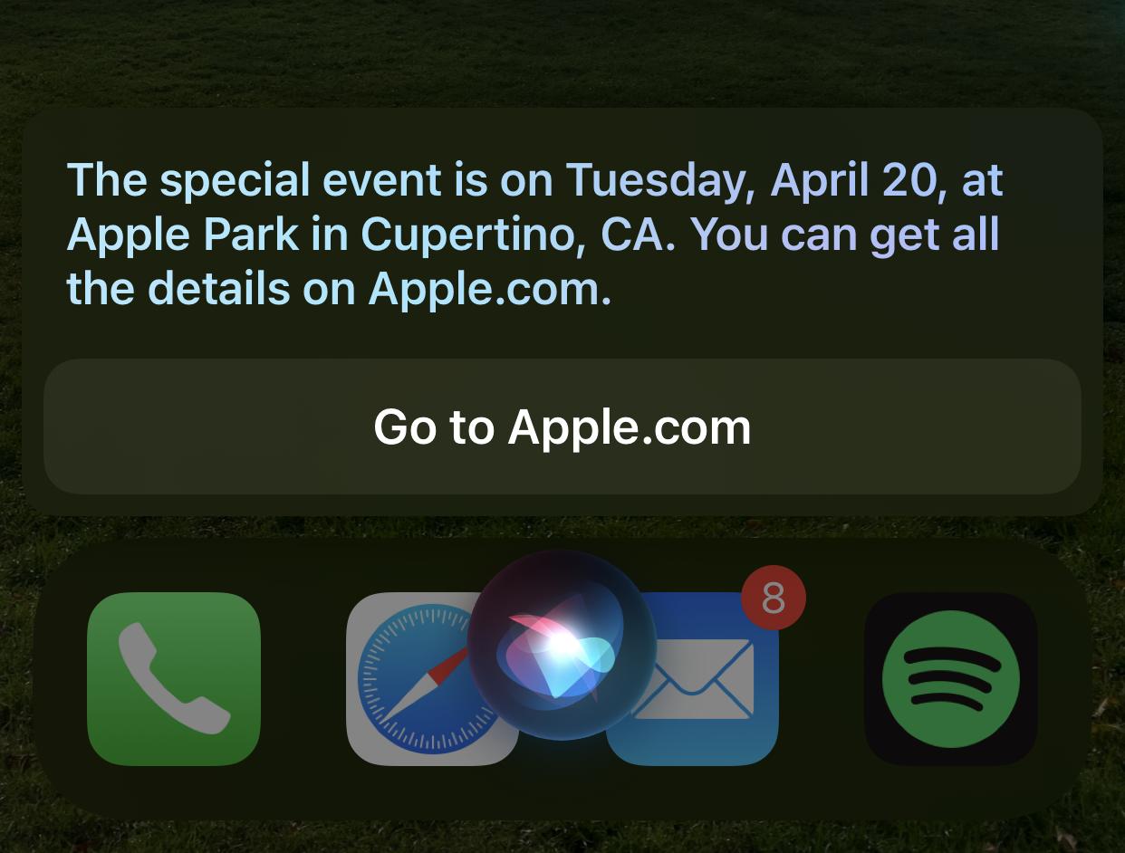 Siri prozradila datum letošního Apple Eventu