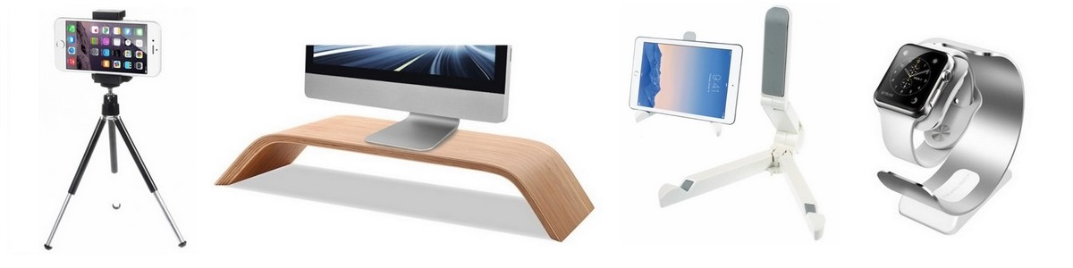 Stativy a stojánky na iPhone, iPad, Mac