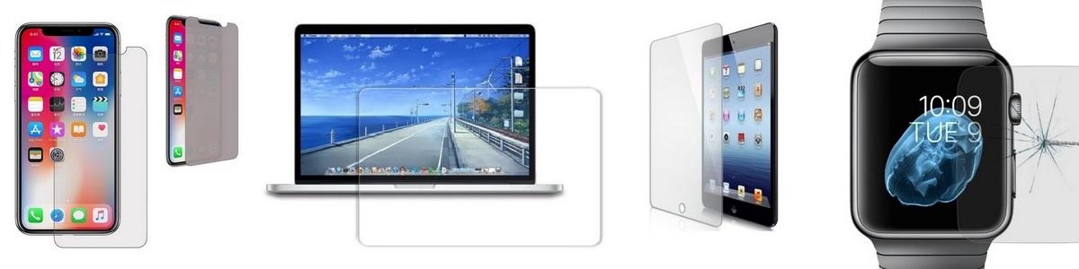 Tvrzené sklo a fólie a na iPhone, iPad, Mac